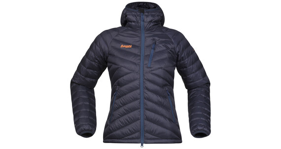 Bergans Slingsbytind Down Jacket w/Hood Lady Night Blue/Dusty Blue/Pumpkin